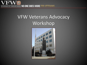 VFW Veterans Advocacy Workshop