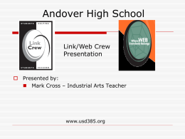 Link Crew Objectives - Smoky Hill Education Service Center