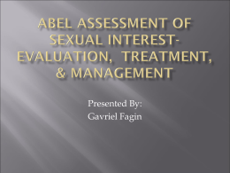 Abel Assessment of Sexual Interest- Evaluation