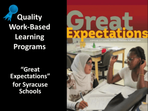 Work-Based Learning Programs - CTE Technical Assistance Center