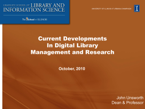 Current Developments in Digital Library