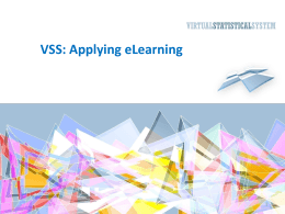 VSS and applying eLearning