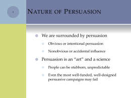 Impact of Persuasion
