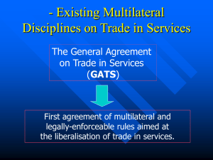 The General Agreement *on Trade in Services (GATS)