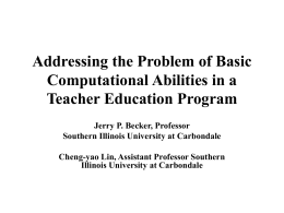 Addressing the Problem of Basic Computational Abilities in a