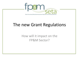The new Grant Regulations