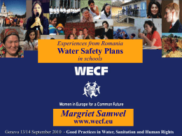 WECF: Water Safety Plans in Schools