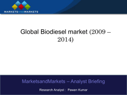 Global Biodiesel Market Segmentation