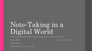 ABEA Presentation Note-Taking in a Digital World