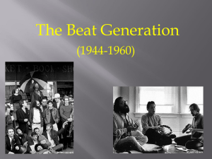 Beat Generation Background for Beat Experience class