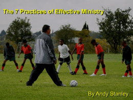 The 7 Practices of Effective Ministry