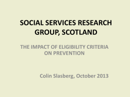 the impact of eligibility criteria on prevention