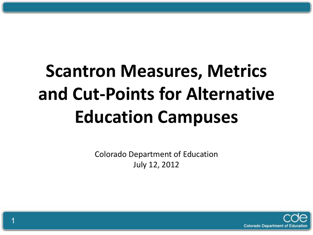 Scantron Achievement and Growth Data