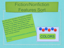 Fiction/Nonfiction Features Sort