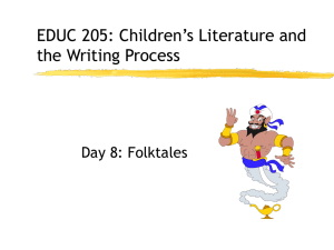 EDUC 205: Children`s Literature and the Writing Process