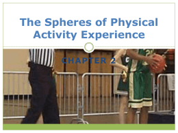 The Spheres of Physical Activity Experience
