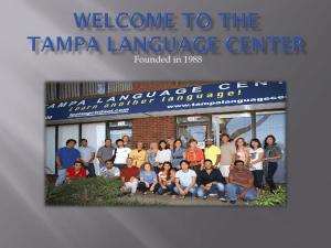 Welcome to the Tampa Language Center