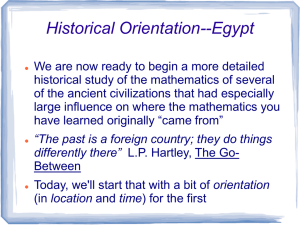 Overview of Egyptian history