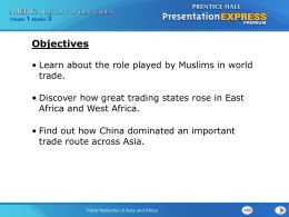 Trade Networks of Asia and Africa