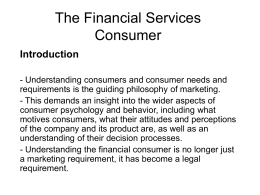 Financial Services consumer