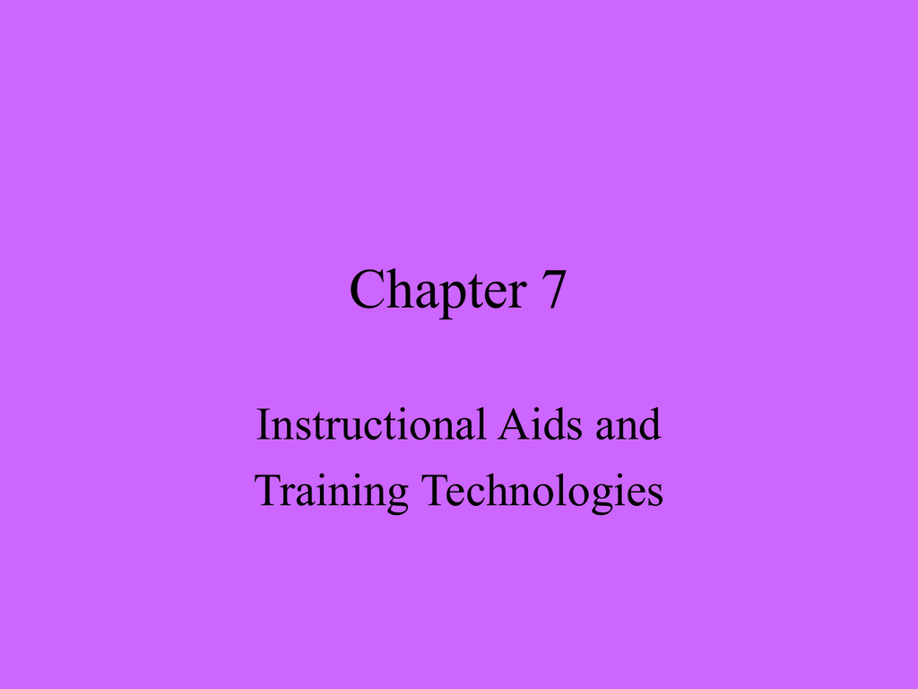 instructional aids