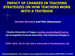 Impact of changes in teaching strategies on how teachers work with