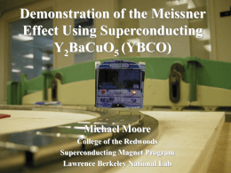 Demonstration of the Meissner Effect Using