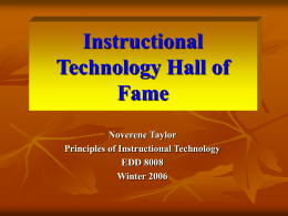 An Instructional Technology Hall of Fame