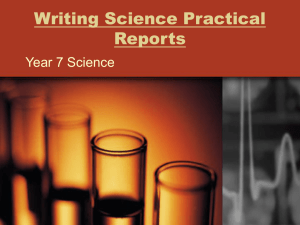 Writing Science Practical Reports