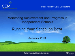 Running your school on Data