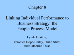 Chapter 8 Linking Individual Performance to Business Strategy: the