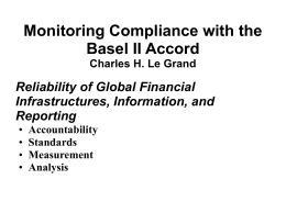 Monitoring Compliance with Basel II
