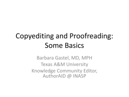 Copyediting and Proofreading-minus photos