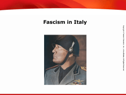 Fascism in Italy - Pearson Online Learning Exchange