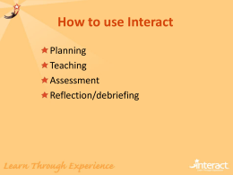 How to use Interact
