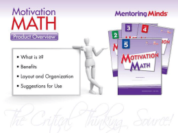 Motivation Math - Mentoring Minds