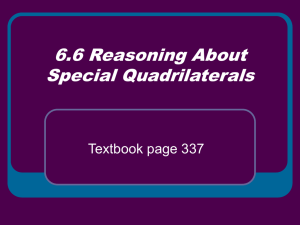 6.6 Reasoning About Special Quadrilaterals