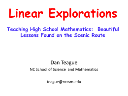 Linear Explorations