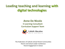 Leading teaching and learning with digital technologies: a shared