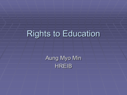What is the Human Right to Education?