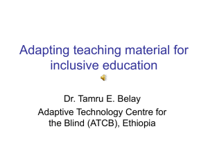 Adapting teaching material for inclusive education