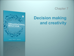 organisational behaviour ch7