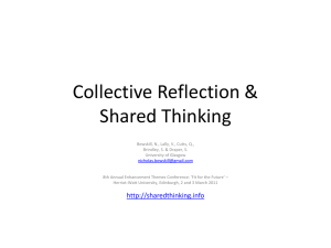 Collective Reflection & Shared Thinking