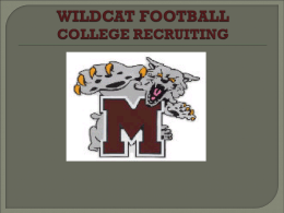 WILDCAT FOOTBALL RECRUITING 2012