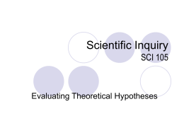 Evaluating Theoretical Hypotheses