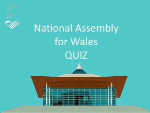 PowerPoint version of the National Assembly for Wales Quiz