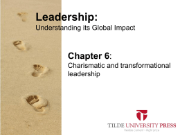 Leaderhip PowerPoint Chapter 6