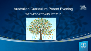 Aust-Curriculum-Presentation-August