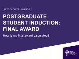 Postgraduate Students - Leeds Beckett University