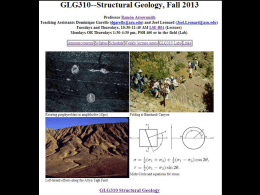 ppt - GLG310--Structural Geology